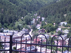 View on hill from Cemetary of Deadwood