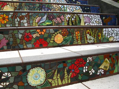 Moraga Tiled Stairway