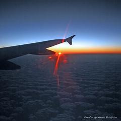 Sunrise flight (anbri22) Tags: ocean sky sun clouds dawn nuvole alba atlantic volo cielo sole oceano atlantico anbri sunriseflight