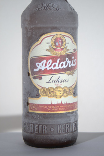 Cold beer (actually frozen) made by Aldaris