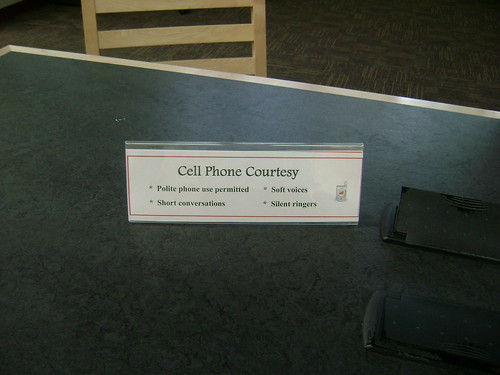 Signage for cell phones