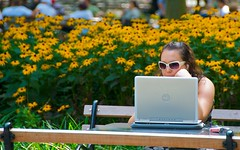 newyork sunglasses manhattan laptop washingtonsquarepark dell sunflowers murray greenwichvillage