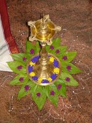 DSC04232 (nagashreenaveen) Tags: flowers india lamp festival indian traditional mandala celebration spiritual hinduism deepa yantra kolam rangoli colouful sudarshana homa hinduritual