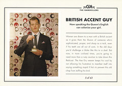 AXE Deodorant BRITISH ACCENT GUY Ad Postcard (crayolamom) Tags: guy advertising postcard ad axe series british accent deodorant gamekiller