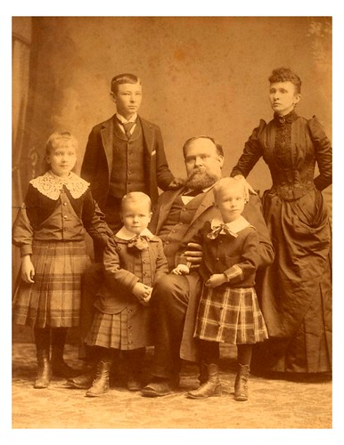 J.S. Hogg & his family. Ima is the girl to the left.