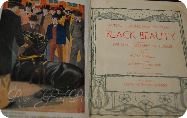 Black Beauty Book Title Page