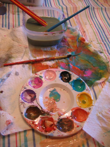 I just love messy, paint covered palettes!