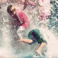 Tumble (Kerrie McSnap) Tags: water kids children square nikon mood child atmosphere splash townsville waterpark d60