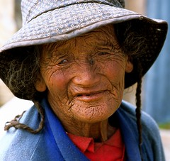 Wrinkled the scars of old age (reurinkjan) Tags: tibet tibetan 2007 paryang changtang  janreurink      drongpa brongpa   facegdongpa