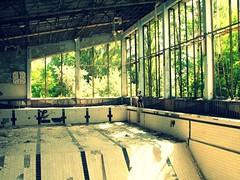 Swimming pool in the abandoned school in Pripyat' / Chernobyl, Ukraine (Daniel Kliza) Tags: plant danger radio tour power evacuation radiation nuclear ukraine disaster radioactive powerplant 1986 atomic kiev zona zone explosive ussr iaea chernobyl geigercounter exclusion geiger pripyat exclusionzone