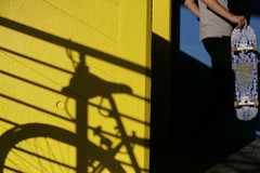 skate (morf*) Tags: uk summer england colour london bike yellow shadows geometry skating southbank skateboard