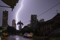 Strike (drecart) Tags: sky storm weather be there lightning storms severe goldcoast brewin drec a therebeastormabrewin drecart