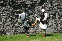 Re-enactment at Dundonald Castle