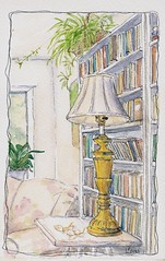 wc 55 01 (ivoryblushroses) Tags: lamp pencil ink watercolor sketch books