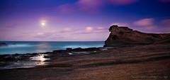Ka Iwi Coast Moonrise.. (looking right) (Rex Maximilian) Tags: ocean longexposure sea moon landscape hawaii twilight surf waves oahu hike moonrise coastline honolulu jupiter hawaiikai crashing 30seconds lavarock tidalpools lavabed kaiwi