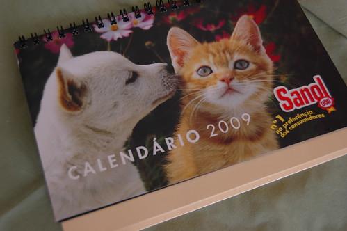 calendário brinde