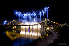 Riverfire 2009 Blue (accesser) Tags: bridge blue fireworks australia brisbane queensland 2009 storybridge brisbanecity riverfire bluefireworks brisbanestorybridge bridgefireworks storybridgefireworks storybridgenight