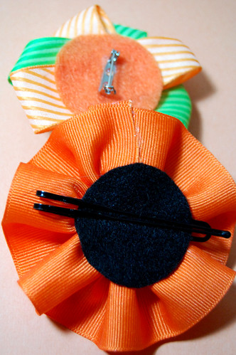 brooche and fascinator backs