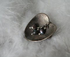 Black Waterlily brooch