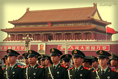 Gearing up for the big day. (ShanLuPhoto) Tags: china city beijing soldiers  prc  tiananmen nationalday   loolooimage