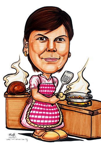Chef Caricature for Exxonmobil 121009