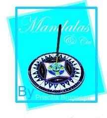 Incensário de CD por MANDALAS & Cia