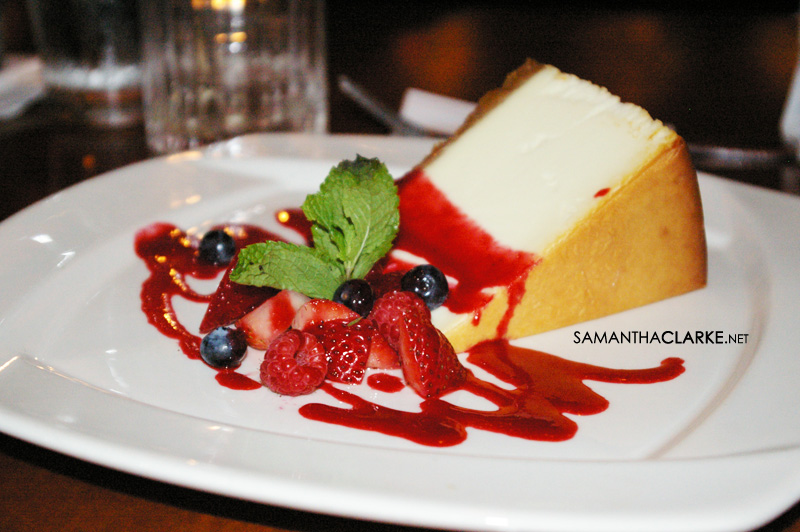 cheese cake for dessert!