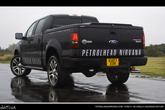 PetrolHeadNirvana.com Ford F-150 Harley Davidson Low Rear Quarter Close Shot (NWVT.co.uk) Tags: new black ford wet up forest truck model photographer close shot cloudy nirvana low year rear stormy automotive f150 harley 150 professional f quarter pic