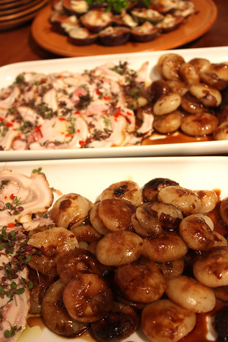 Sliced pork and roast shallots? Go on then.