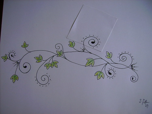 Ivy swirl tattoo design (going