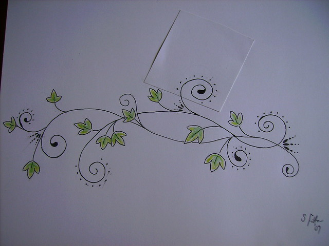 Ivy swirl tattoo design