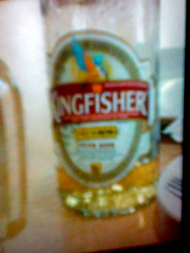 beer, in india: photo of a camera showing a photo by jameswhitefanclub.