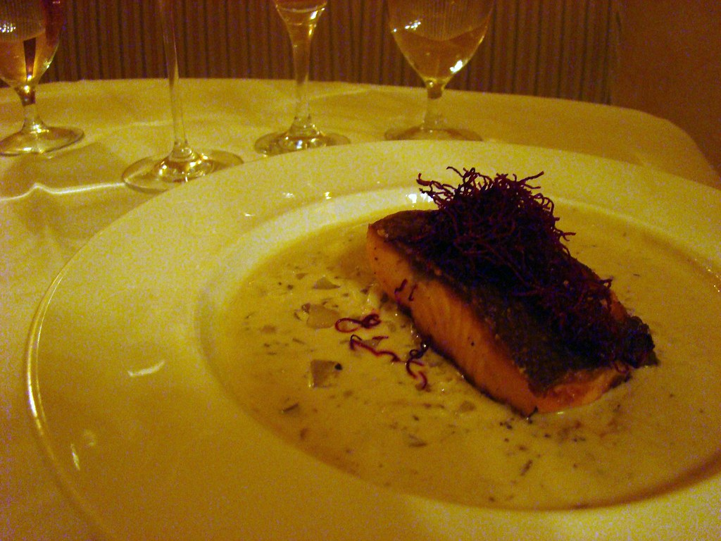 Seared Sea trout with Crab Chowder