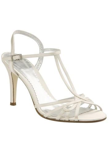Elegant bridal shoes.