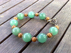 Aventurine and tiger jasper bracelet