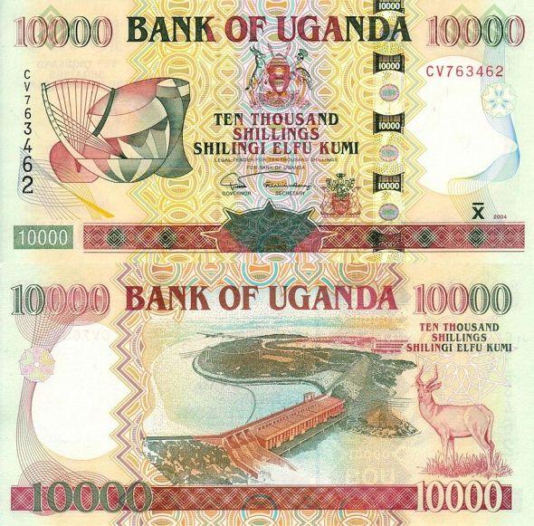 10000 šilingov Uganda 2004-8