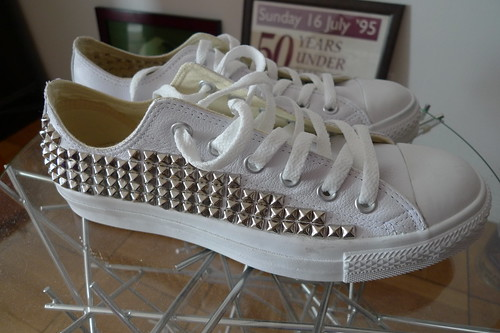 studded sneakers (exterior)