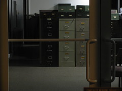 Filing cabinets behind closed doors by alex_ford, on Flickr