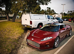 Spyker Aileron (GHG Photography) Tags: california red beach pebble 2009 coupe spyker c8 aileron ghgphotography