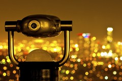 I was looking for you (Andy Kennelly) Tags: california park city architecture night gold lights golden losangeles downtown view nightshot bokeh observatory telescope griffith kennelly iwaslookingforyou ajax8055