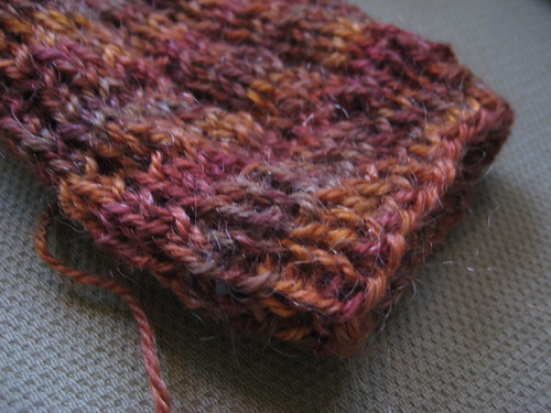 knitting a gift
