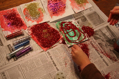 piles and piles of glitter