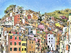 Riomaggiore, Italy (piker77) Tags: urban italy painterly art digital photoshop watercolor painting interesting media natural aquarelle digitale manipulation simulation peinture illusion virtual terre watercolour transparent acuarela tablet technique wacom stylized cinque pintura imitation  aquarela aquarell emulation malerei pittura virtuale virtuel naturalmedia    piker77wc arthystorybrush