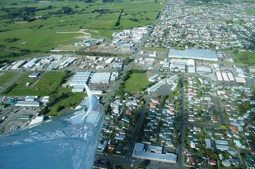 Palmerston North from the air