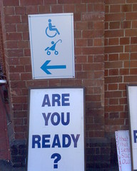 Wheelchair and stroller approaching, are you ready?