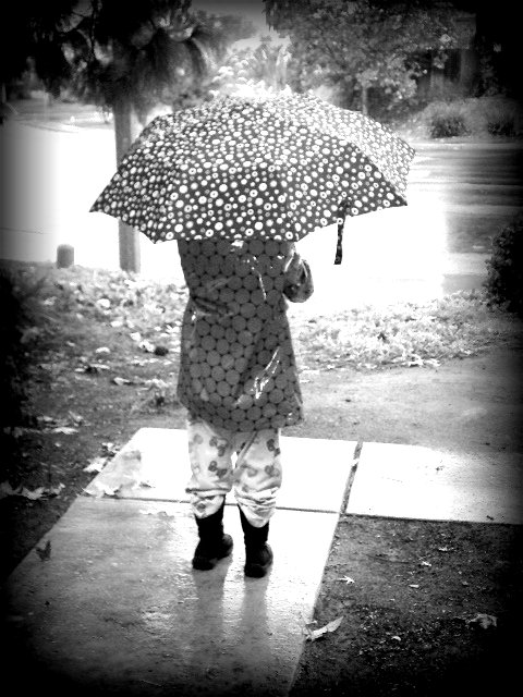 bria in the rain