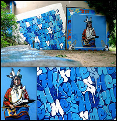 By KONGO, ALEX, REST, LAZOO (MAC) (Thias (-)) Tags: terrain streetart paris alex wall painting graffiti mac mural spray urbanart painter rest graff aerosol lazoo 93 bombing kongo fresque frenchgraff