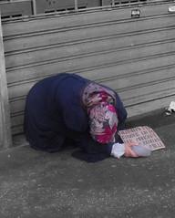 carità.. (ritvaester) Tags: woman roma poor mendicante estremità