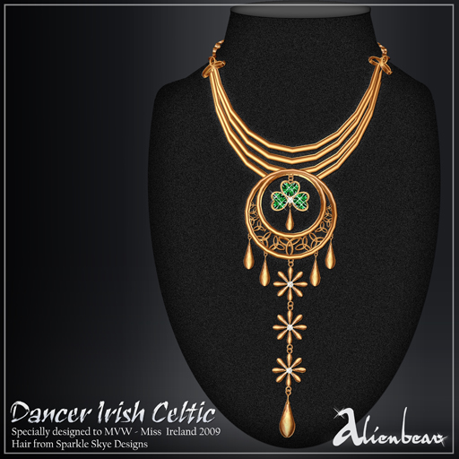 Dancer Irish gold necklace (Miss Ireland)