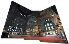 Mesquita Blava, Istanbul (Ull_Viu) Tags: islam istanbul panoramica mezquita turquia estambul mesquita rezar mezquitaazul fotopanoramica pregar